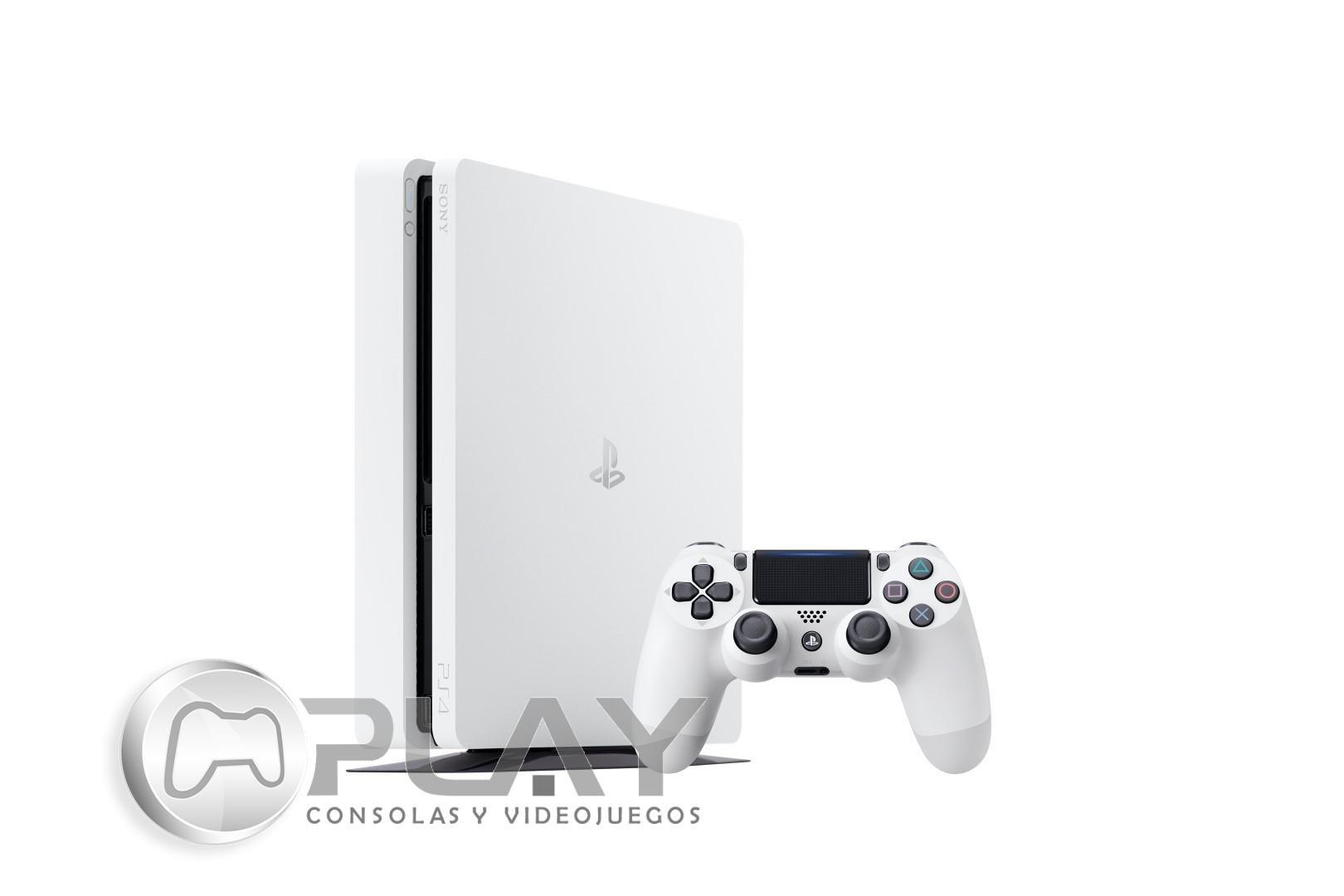 ps4 slim blanche console 500 go pack 2 jeux fifa 17 gta v ebay. Black Bedroom Furniture Sets. Home Design Ideas