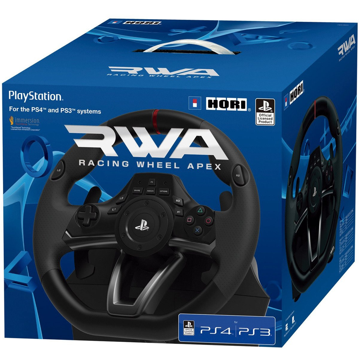 volante racing wheel apex para ps4 ps3 y pc. Black Bedroom Furniture Sets. Home Design Ideas