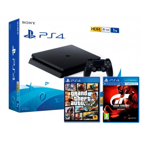 PS4 Slim 1Tb Consola + GTA V