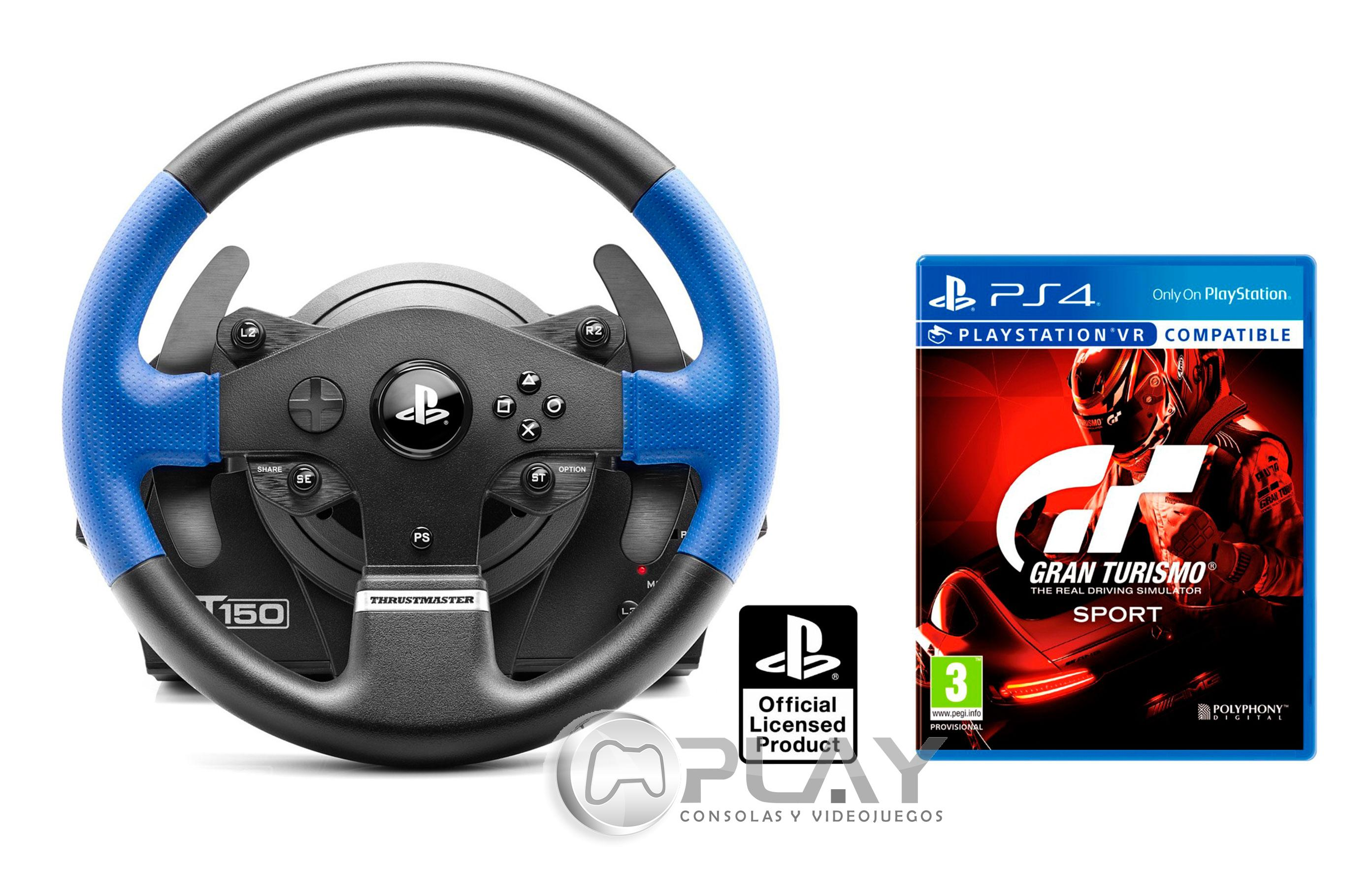 volante thrustmaster t150 rs force feedback gran turismo sport gt sport ebay. Black Bedroom Furniture Sets. Home Design Ideas